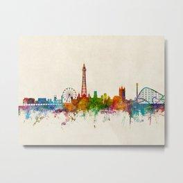 Blackpool England Skyline Metal Print