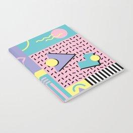Memphis Pattern 27 - 80s - 90s Retro / 1st year anniversary design Notebook