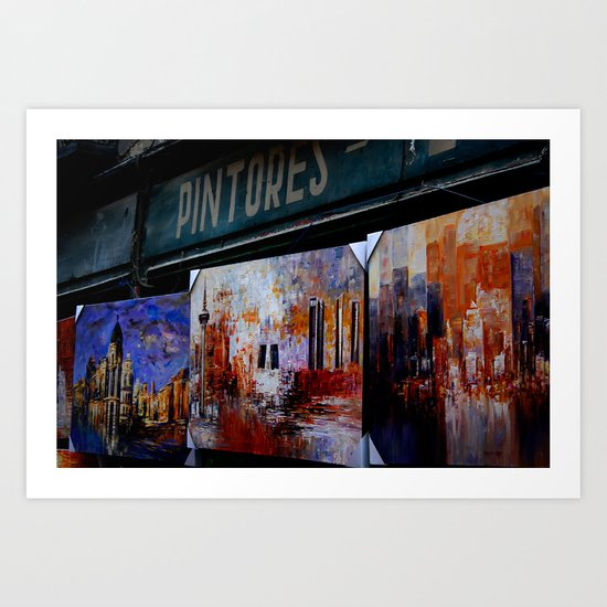 """PINTORES"" Art Print"