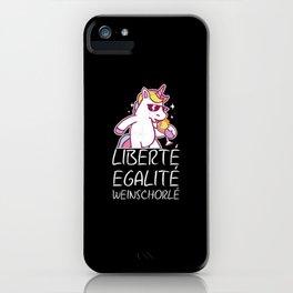 Liberte Egalite Weinschorlé Wein Liebe Geschenk iPhone Case