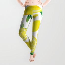 Zesty Lemon Pattern Leggings