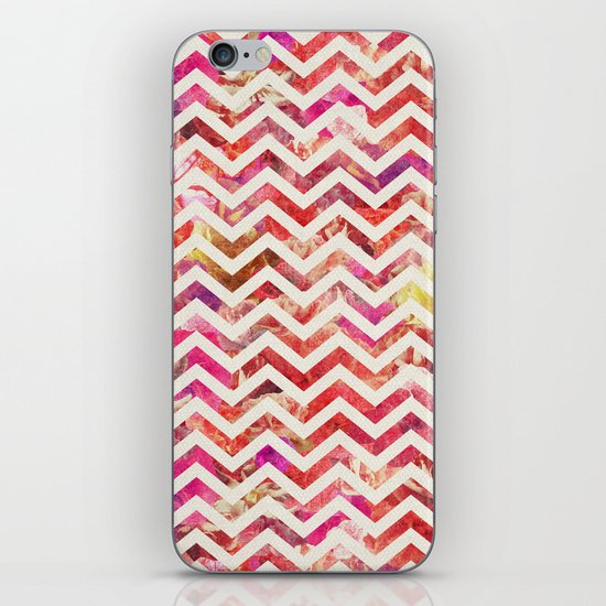 FLORAL CHEVRON iPhone Skin