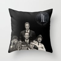 dc comics Throw Pillows featuring DC Justice League... not only for comics by ItalianLeo