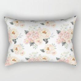 Bouquets pattern. Blush pink peonies. Rectangular Pillow