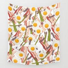 Breakfast pattern Wall Tapestry