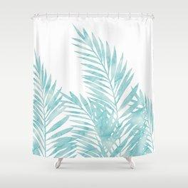 Palm Leaves Island Paradise Shower Curtain