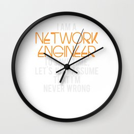 Network Engineer Gift Funny Engineering Computer Science Wall Clock