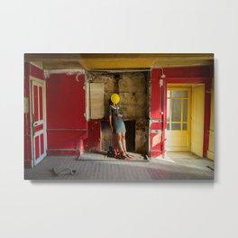 Le mystère de la chambre jaune Metal Print