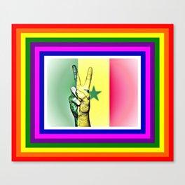Senegal World Peace Flag Canvas Print