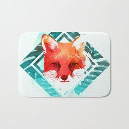 Green fox Bath Mat