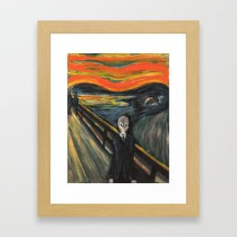 The Silence - When The Doctor Meets Munch Framed Art Print