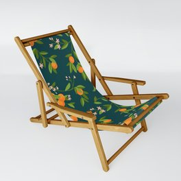 Citrus Tree - Navy Sling Chair