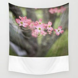 Pink Dogwood Blossoms Wall Tapestry
