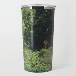 Directions in a forest Travel Mug