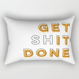 Get Shit Done (Orange) Rectangular Pillow