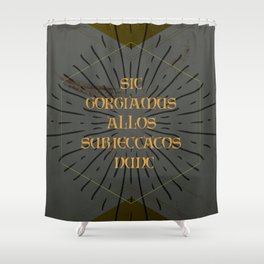 Addams Family Quote Shower Curtain