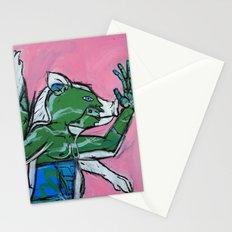 Flailing Pig Man by Amos Duggan Stationery Cards
