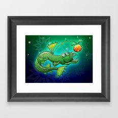 Christmas Abyssal Angler Fish Framed Art Print