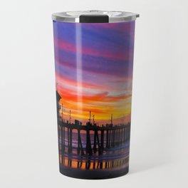 Huntington Beach Sunset   ~  12/15/13  Travel Mug
