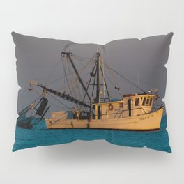 Tucker J fishing boat Pillow Sham