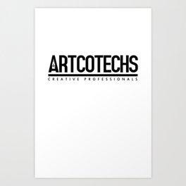 Artcotechsure: Creative Professionals (white) Art Print