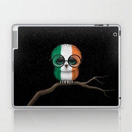 Baby Owl with Glasses and Irish Flag Laptop & iPad Skin