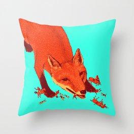 Fox Hunting  Throw Pillow