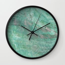 Mossy Woods Green Marble Wall Clock