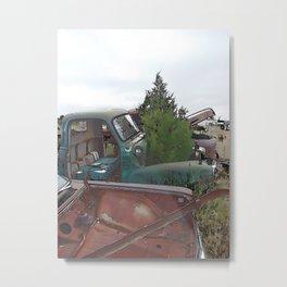 A tree grows in it 2 Scenes from a junkyard Metal Print