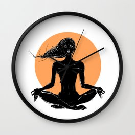 Namaste. Wall Clock