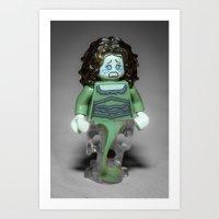 Ghost Lady Art Print