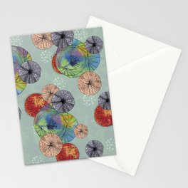 Abstract Solar System Stationery Cards