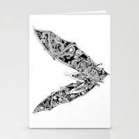bat Stationery Cards featuring Bat by Gwyn Hockridge
