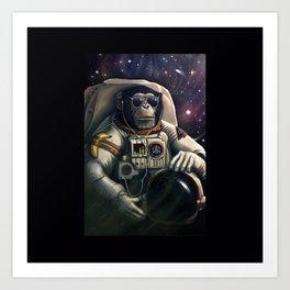 Monkey Space Art Print