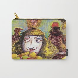 Fruit Hats and Feathers Carry-All Pouch
