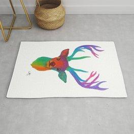 Rainbow Deer Rug