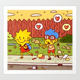 Everything's coming up Milhouse! Art Print