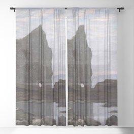 Claude Monet - Étretat Sheer Curtain
