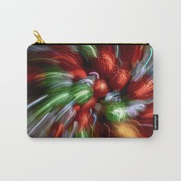 Abstract Red & Green Motion Blur Carry-All Pouch