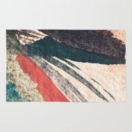 Thunder&Lightning {3}: Minimal watercolor abstract in pinks, blues, and greens Rug