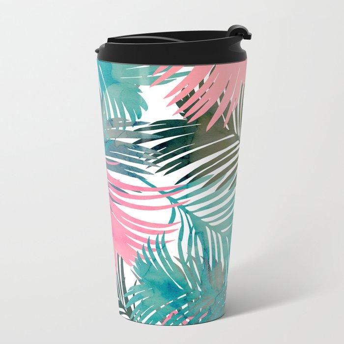 Pattern Jungle Metal Travel Mug