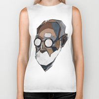 freud Biker Tanks featuring Freud by PAFF