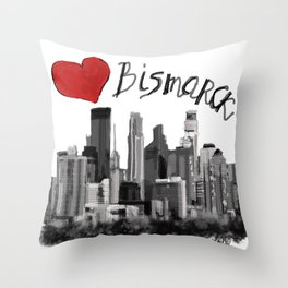 I love Bismarck Throw Pillow