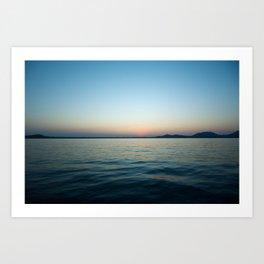 Subtle sunset Art Print