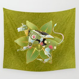 Green Lion Wall Tapestry