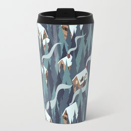 Forest Cabins Travel Mug