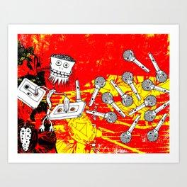 Tape Bot Art Print
