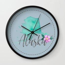 Alaska Love Wall Clock