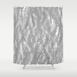 Gray Waves Abstract Shower Curtain