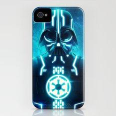 Tron Vader Blue iPhone (4, 4s) Slim Case